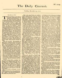 Daily Courant, December 29, 1730, Page 1