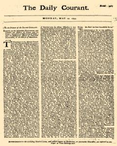 Daily Courant, May 19, 1735, Page 1