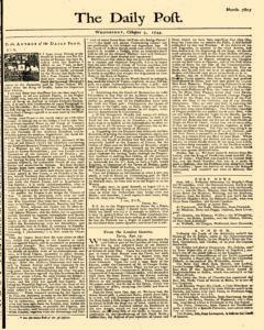 Daily Post, October 03, 1744, Page 1