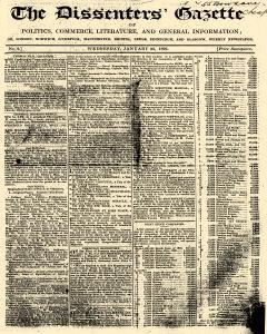 Dissenters Gazette, January 25, 1826, Page 1
