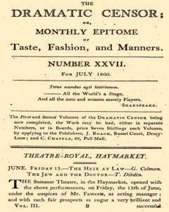 Dramatic Censor, July 01, 1800, Page 13