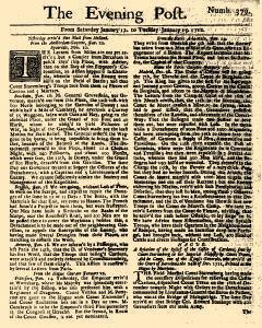 Evening Post, January 12, 1712, Page 1
