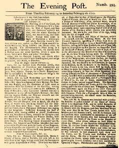 Evening Post, February 14, 1712, Page 1