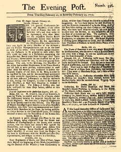 Evening Post, February 21, 1712, Page 1