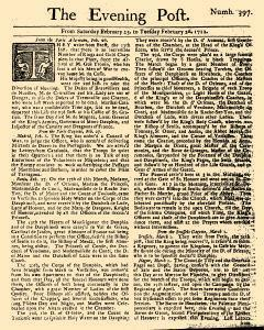 Evening Post, February 23, 1712, Page 1