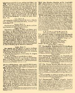 Evening Post, March 15, 1712, p. 2