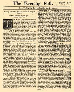 Evening Post, March 25, 1712, Page 1
