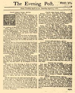 Evening Post, April 22, 1712, Page 1