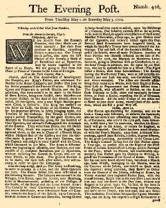 Evening Post, May 01, 1712, Page 1