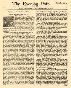 Evening Post, May 13, 1712, Page 1