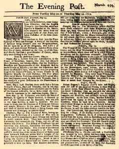 Evening Post, May 20, 1712, Page 1