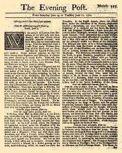 Evening Post, June 14, 1712, Page 1