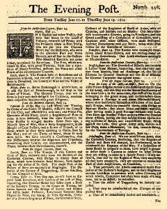 Evening Post, June 17, 1712, Page 1