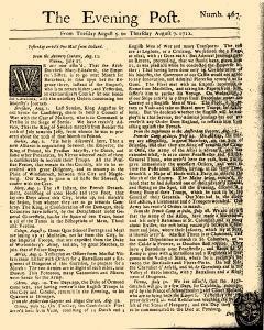 Evening Post, August 05, 1712, Page 1
