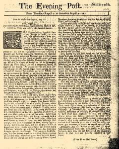 Evening Post, August 07, 1712, Page 1