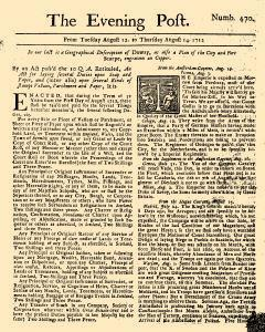 Evening Post, August 12, 1712, Page 1