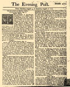 Evening Post, August 14, 1712, Page 1