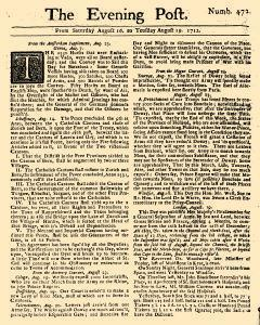 Evening Post, August 16, 1712, Page 1