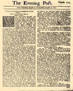 Evening Post, August 21, 1712, Page 1