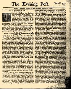 Evening Post, August 28, 1712, Page 1
