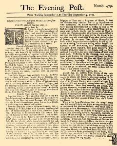 Evening Post, September 02, 1712, Page 1