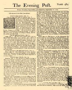 Evening Post, September 04, 1712, Page 1
