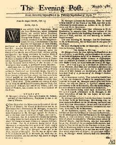 Evening Post, September 06, 1712, Page 1