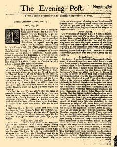 Evening Post, September 09, 1712, Page 1