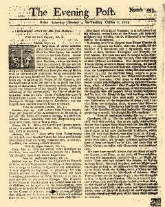 Evening Post, October 04, 1712, Page 1