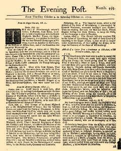 Evening Post, October 09, 1712, Page 1