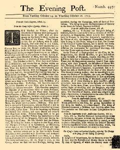 Evening Post, October 14, 1712, Page 1