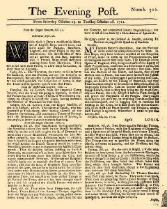 Evening Post, October 25, 1712, Page 1