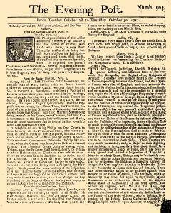 Evening Post, October 28, 1712, Page 1