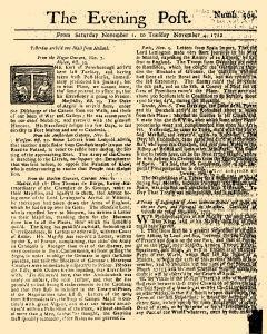Evening Post, November 01, 1712, Page 1