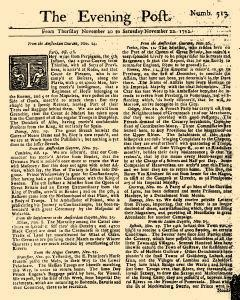 Evening Post, November 20, 1712, Page 1