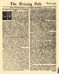 Evening Post, November 27, 1712, Page 1