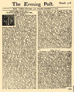 Evening Post, December 02, 1712, Page 1