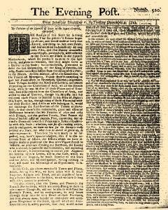 Evening Post, December 06, 1712, Page 1