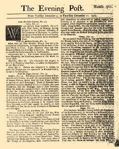 Evening Post, December 09, 1712, Page 1