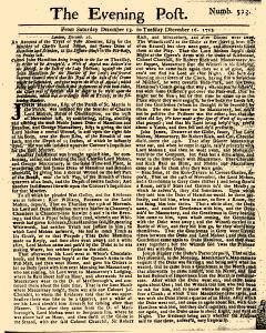 Evening Post, December 13, 1712, Page 1