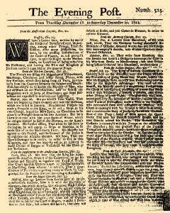 Evening Post, December 18, 1712, Page 1