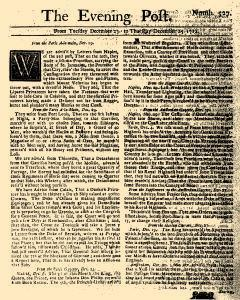 Evening Post, December 23, 1712, Page 1