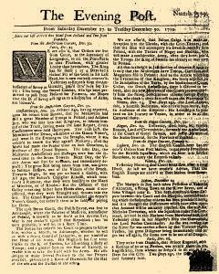 Evening Post, December 27, 1712, Page 1
