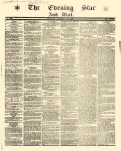 Evening Star And Dial, December 21, 1861, Page 1