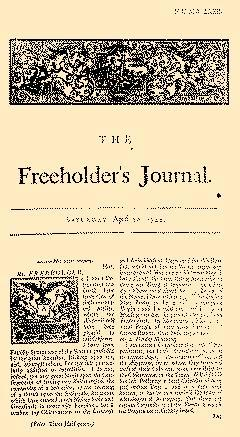 Freeholders Journal, April 20, 1722, Page 1