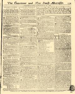 Gazetteer And New Daily Advertiser, January 17, 1765, Page 1