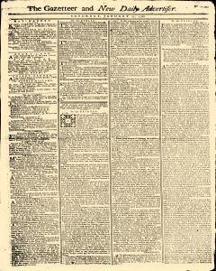 Gazetteer And New Daily Advertiser, January 11, 1766, Page 1