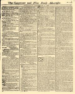 Gazetteer And New Daily Advertiser, January 14, 1766, Page 1