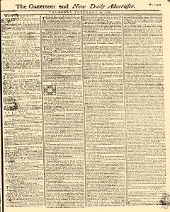 Gazetteer And New Daily Advertiser, February 20, 1766, Page 1