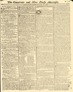 Gazetteer And New Daily Advertiser, February 25, 1766, Page 1